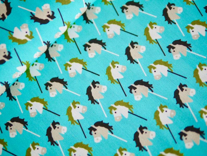 HILCO cotton fabric children's fabric hobbyhorse horse image 0