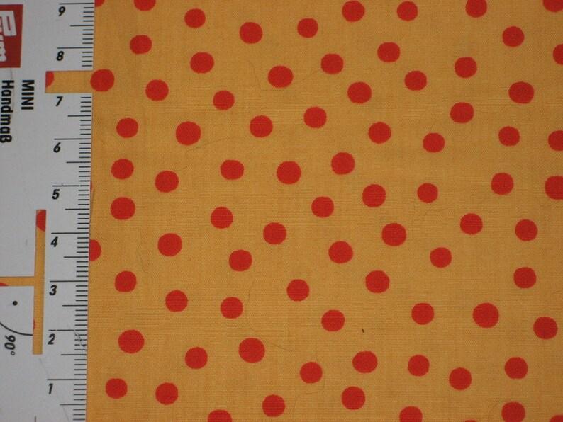 HILCO Cotton Fabric Popeline TOZKA Dots Yellow-Red image 0