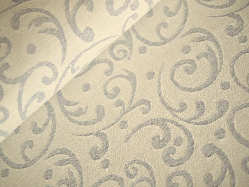 HILCO jersey knit cotton knit ornaments grey cream image 0