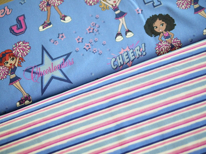 HILCO fabric package Jersey 2 x 25 cm x150 cm cheerleaders & image 0