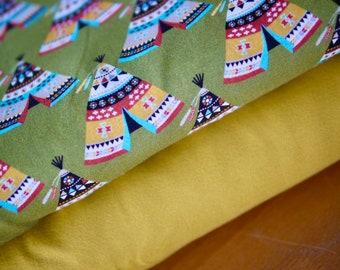 Fabric pack jersey, jersey fabric, cotton jersey, Indian tent & uni yellow