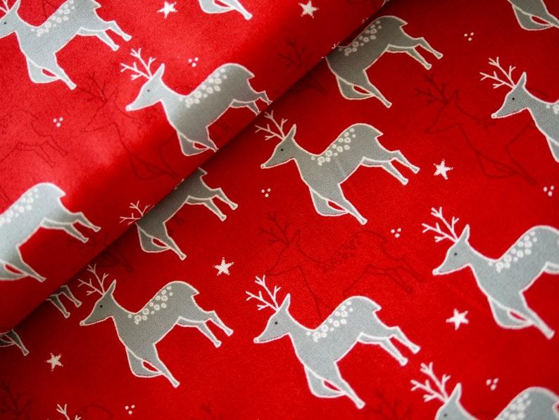 50 cm rest MODA patchwork fabric Christmas fabric deer deer image 0