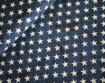 Miller patchwork fabric, country that I love, stars blue and white