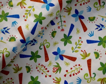 Wilmington patchwork fabric, cotton fabric, children's fabric, palm trees, tree, trees
