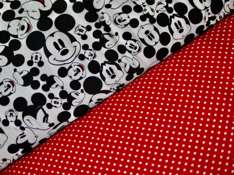 Fabric package jersey jersey fabric cotton jersey mickey image 0