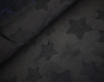 HILCO Micro-Fleece ESTELLE, stars dark blue, cuddly