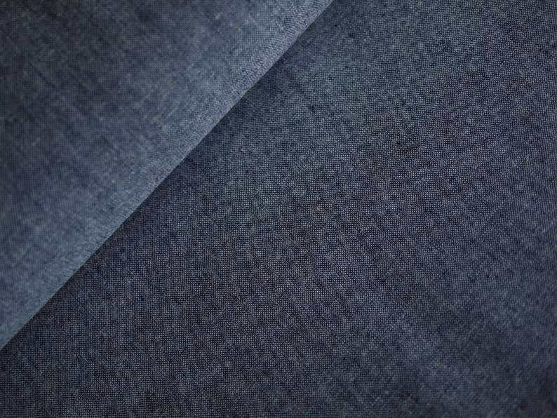 Robert Kaufman Patchworkstoff linen/cotton dark blue image 0