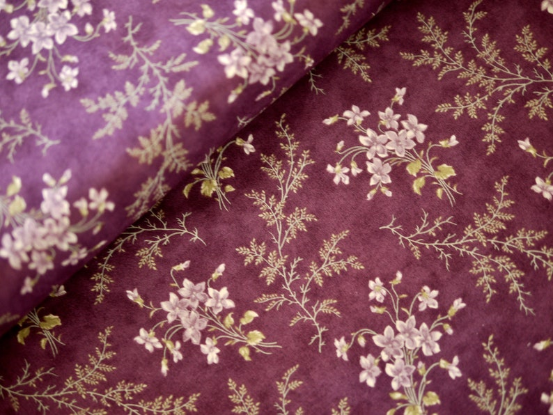 MODA Patchwork Fabric Flowers Violets image 0