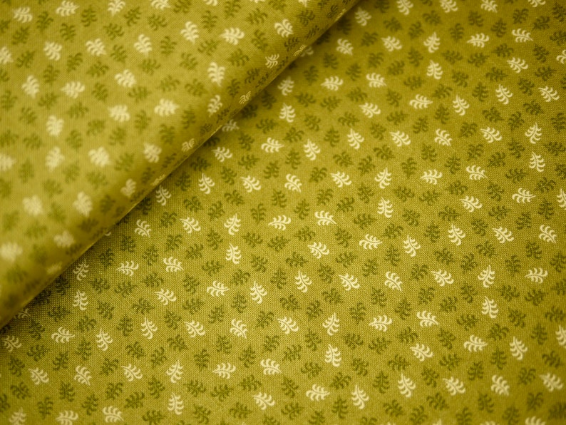 Andover patchwork fabric leaves leaf fern small patterned image 0