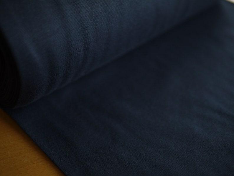 dark blue cuff cuff knit fine rib cuffs solid color image 0