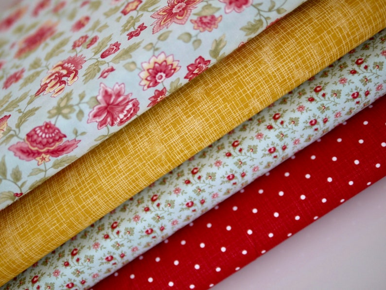 MODA/Kaufman Fabric Package Patchwork Fabric Flowers Roses image 0