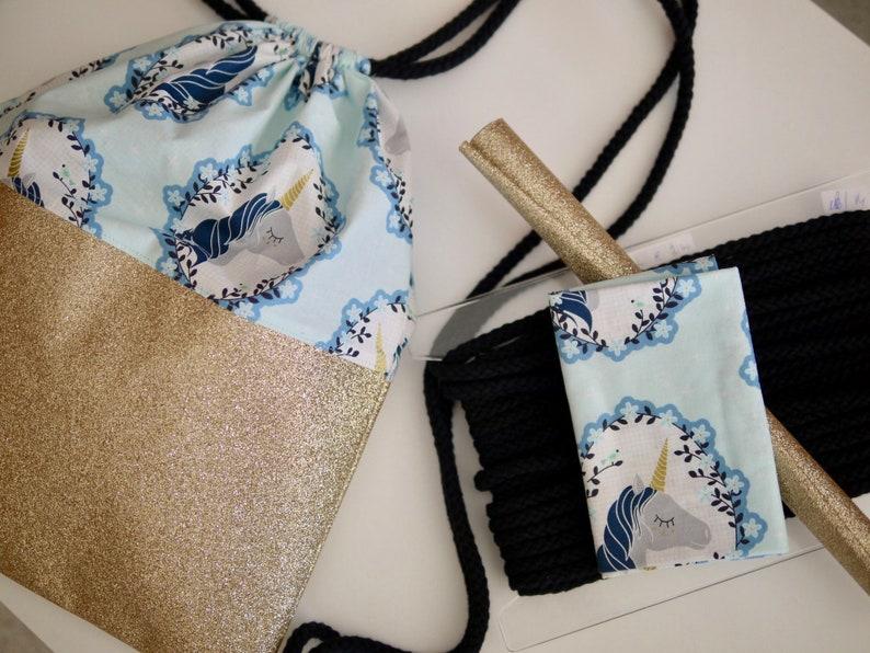 DIY sewing set backpack glitter ONE image 0