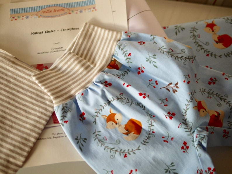 DIY sewing pack BABYHOSE jersey pants to sew yourself size image 0