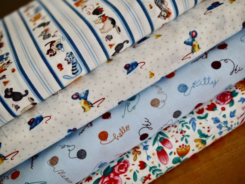 MILLER fabric package patchwork fabric 4 x 25 cm x110 cm image 0