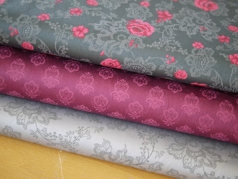 Fabric package cotton fabric traditional fabric roses image 0