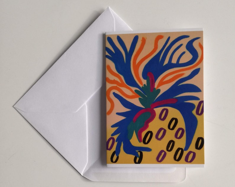 Greeting card MAJORELLE with envelope  one side-folded image 0