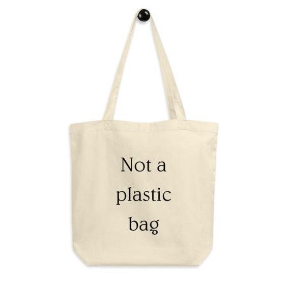 Classic tote bag Funny tote bag Eco tote bag Natural Cotton Tote Bag Funny tote bag Not a plastic bag tote bag Minimalistic tote bag