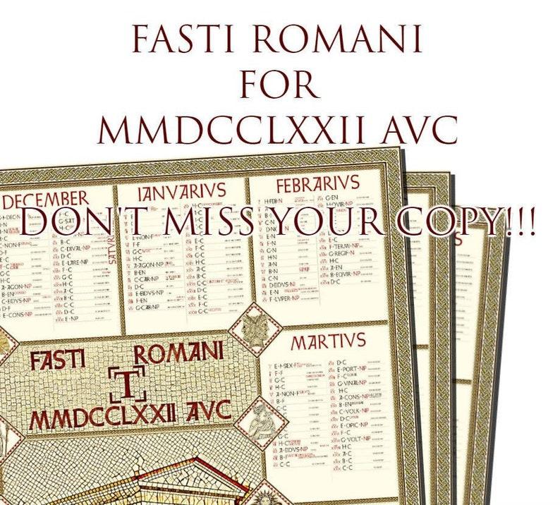 Il Calendario Romano.Calendario Romano 2019 Fasti Romani Poster Italiano