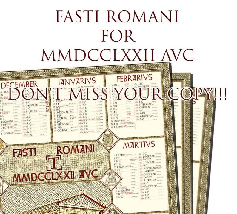 Calendario Romano.Calendario Romano 2019 Fasti Romani Poster Italiano