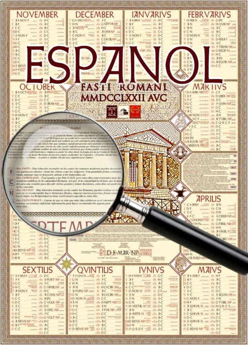 Calendario Romano.Calendario Romano 2019 Fasti Romani Poster Version En Espanol