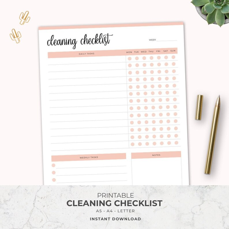 graphic about Printable Cleaning Schedule for Working Moms known as Cleansing List, Cleansing Planner, Printable Cleansing Record, Chore Chart, Housekeeping, Weekly Cleansing, Filofax A5, Mother Planner