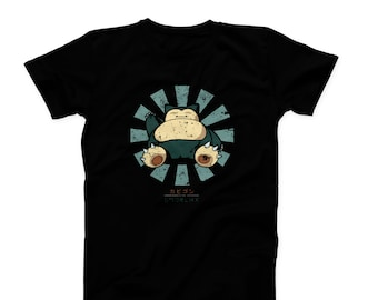 3a37e743 Pokemon Snorlax Ash Relax Lazy Anime TV Series Quote Slogan Funny Novelty T  shirt Birthday Gift