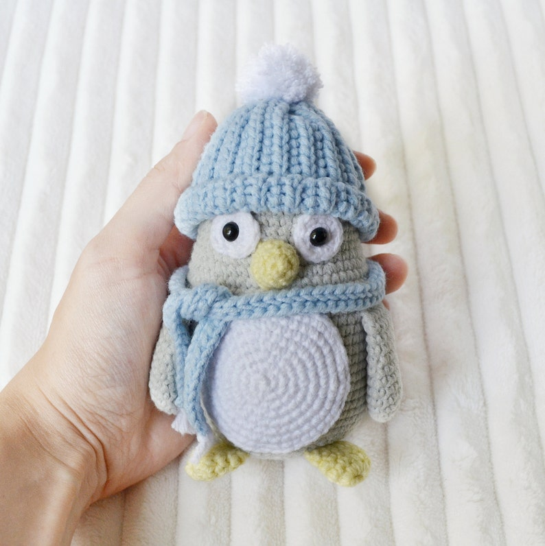 Crochet amigurumi penguin toy crochet bird amigurumi animals stuffed  penguin crochet animals handmade toy soft toy Christmas in July CIJ