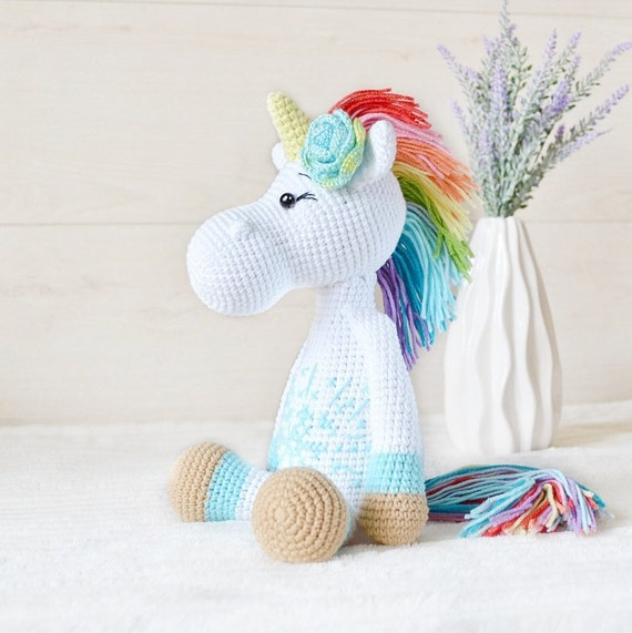 Musical Plush Unicorn NEW Easter Basket Rainbow WHITE ONLY!