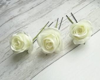 Pins wedding hair white bridal hair wedding flowers and pearls metal leaves Charlie-