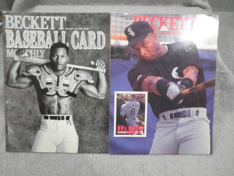 199091 Two Beckett Baseball Price Guides Bo Jackson 1191 80 And 0690 63