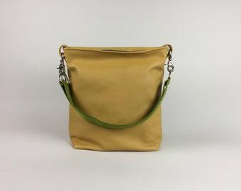Leather bag mustard yellow