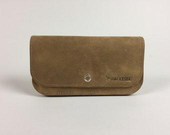 Wallet honey brown