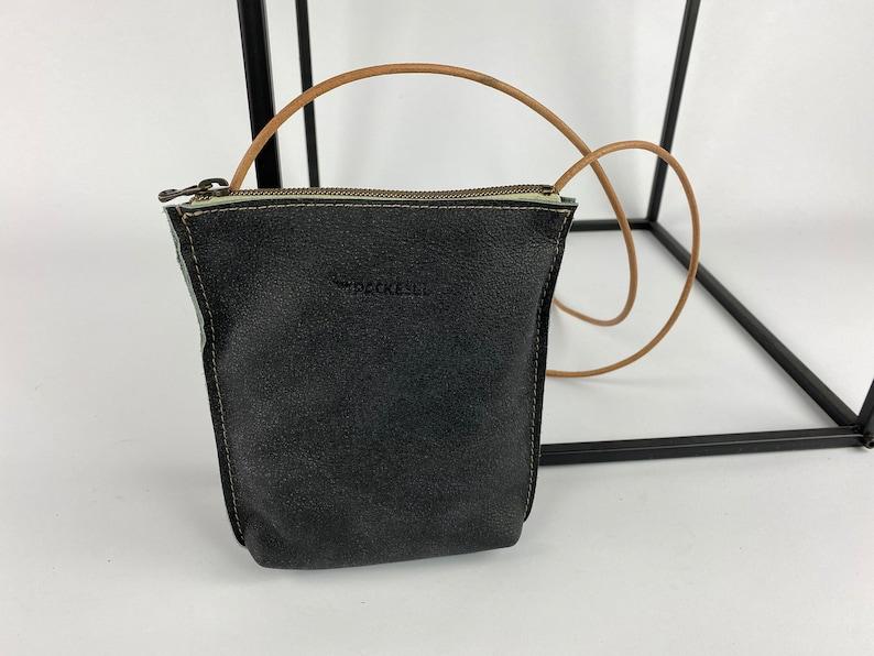 Mini bag Small luggage velour anthracite image 0