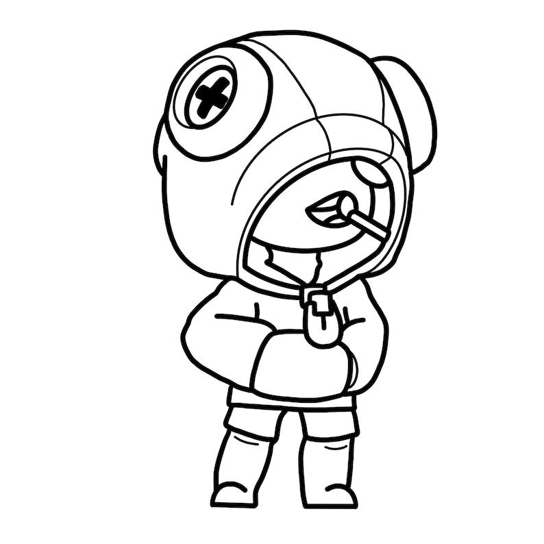 Brawl Stars SVG Leon Character | Etsy