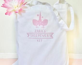 PERSONALISED swim pe bag swan princess GIFT BAG drawstring flower crown pretty
