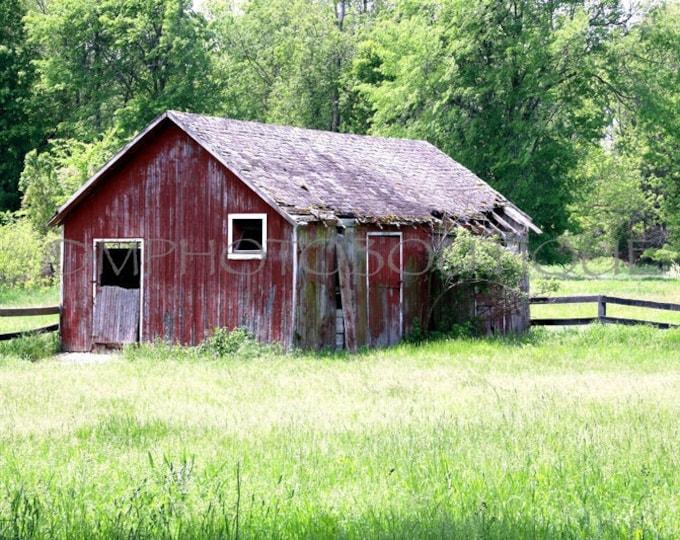 Red Barn Print, Red Barn Canvas, Country Decor, Farmhouse Decor, Fixer Upper Decor, Farmhouse Landscape, Fixer Upper Inspired, Red Barn