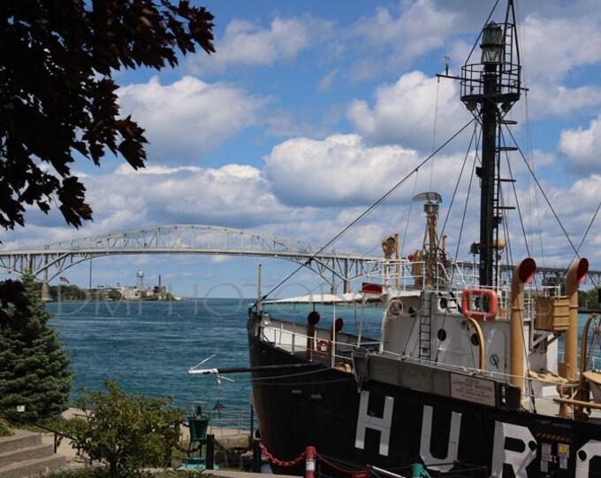 Huron Lightship Print, Huron Light Print, Huron Lightship Canvas, Michigan Photography, Lighthouse Print, Nautical Photography, Nautical Art