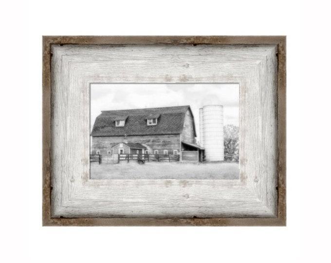 Black and White Framed Barn Print, Barn Print, Barn Decor, Farmhouse Decor, Country Decor,Fixer Upper Decor,Farmhouse Landscape, Rustic Barn
