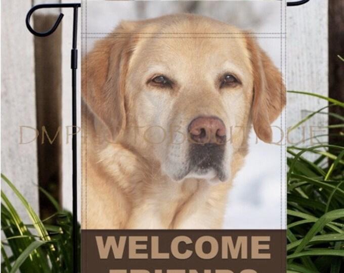 Yellow Lab Garden Flag, Labrador Retriever Garden Flag, Dog Garden Flag, Lab, Lab Gift, Yellow Lab, Labrador Retriever, Gifts for Dog Lovers