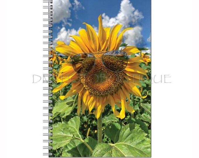 Sunflower Notebook, Sunflower Journal, Cute Notebook, Back To School, School Supplies, Flower Notebook, Flower Journal, Funny Notebook