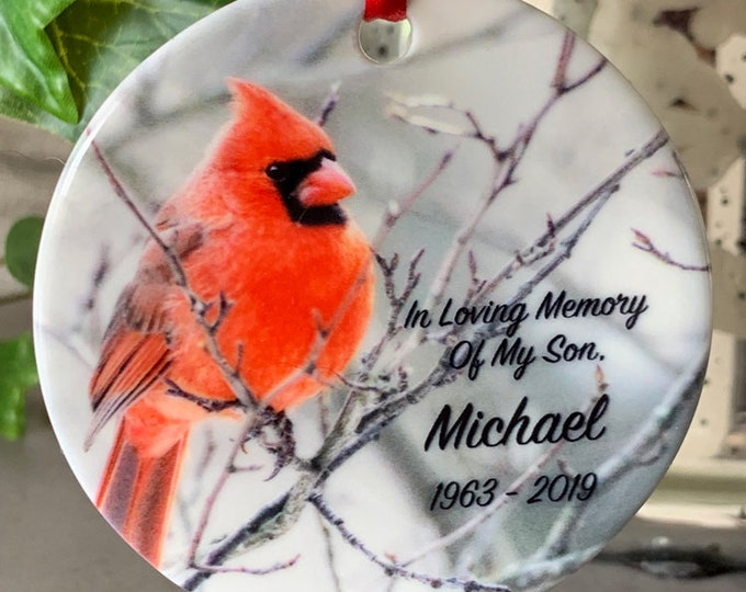 Memorial Christmas Ornament, Memorial Xmas Ornament, Personalized Memorial Gift, Personalized Memorial Ornament, Custom Memorial Gift