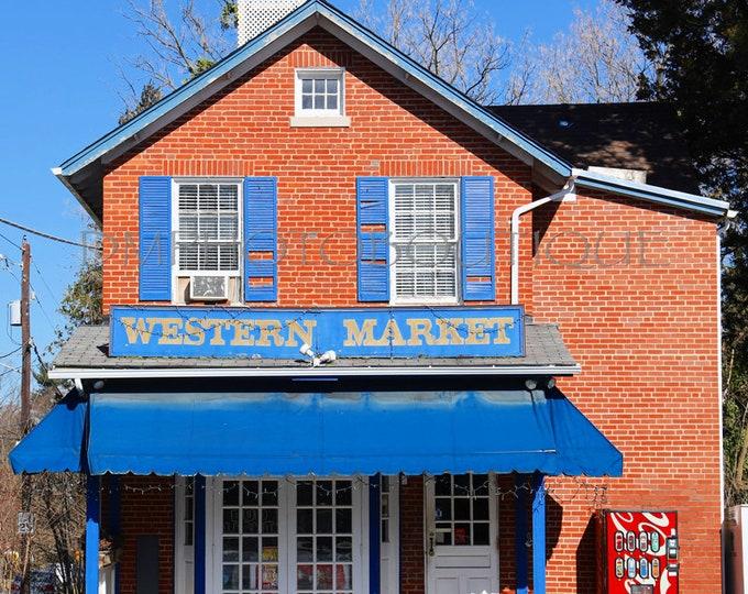 Vintage Market Print, Vintage Market Photo, Vintage Market Art, Wall Art, Market Wall Art, Market Photo, Old Grocery Store, Old Market