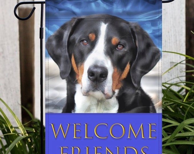 Greater Swiss Mountain Dog Garden Flag, Swissy Garden Flag, Dog Garden Flag, Greater Swiss Mountain Dog, Swissy, GSMD, Dog Gifts For Owners