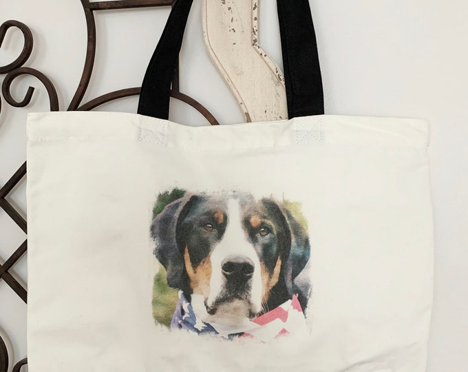 Greater Swiss Mountain Dog Tote Bag, Swissy Tote Bag, Greater Swiss Mountain Dog Gift, Greater Swiss Mountain Dog,Greater Swiss Mountain Dog