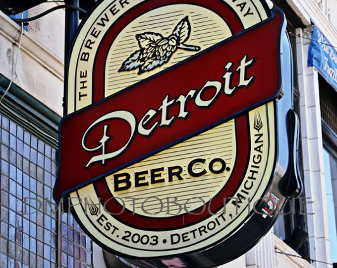 Detroit Bar Sign, Bar Sign, Bar Art, Bar Decor, Bar Wall Art, Detroit, Detroit Art, Detroit Artwork, Detroit Decor, Detroit Wall Art