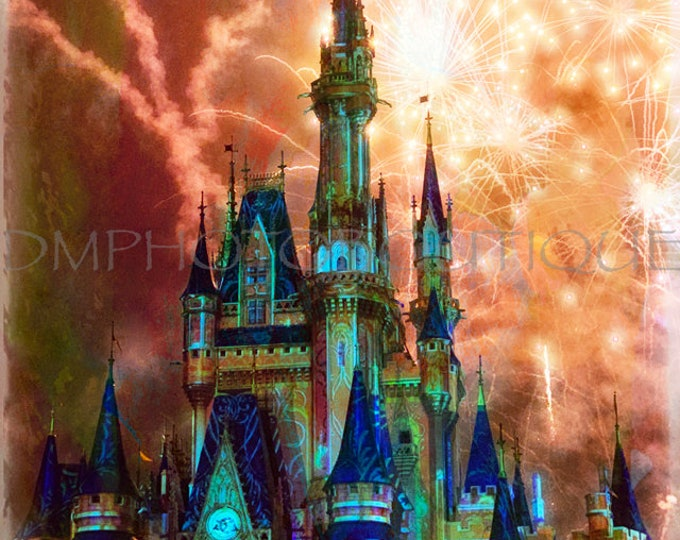 Disney Castle, Disney Art, Disney Fireworks, Cinderella Castle, Disney Castle Photo, Cinderella Castle Photo, Disney Photography