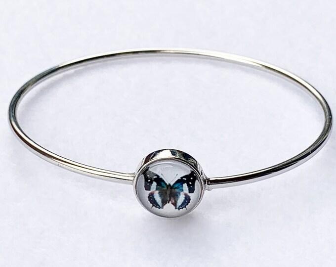 Silver Butterfly Bracelet, Butterfly Jewelry, Butterfly Gift, Butterfly, butterfly Bracelet, Easter Gift, Girlfriend Gift, Cute Butterfly