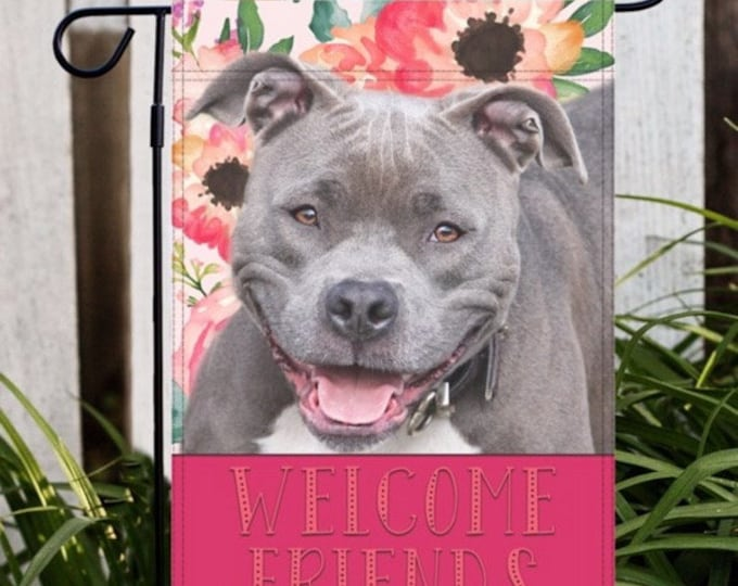 Pitbull Garden Flag, Pitbull Flag, Pitbull Gift, Pitbull Mom Gift, Dog Garden Flag, Dog Flag, Pitbull, Pitbull Gifts For Her, Pitbull Gifts