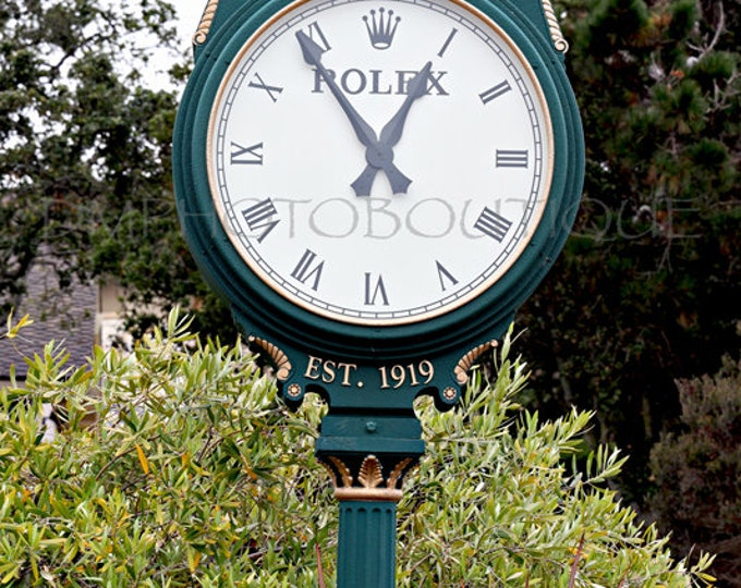 Pebble Beach Rolex Clock Print, Pebble Beach Golf Course, Golf, Golf Lovers, Golf Sign, Pebble Beach, Bar Sign, Mancave Sign, Bar Art