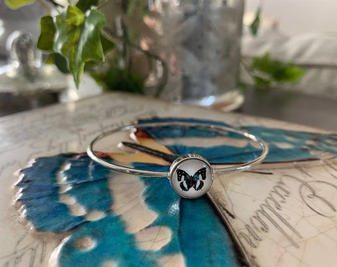 Butterfly Bracelet, Butterfly Jewelry, Butterfly Gift, Butterfly, Butterfly Lover, Gift For Butterfly Lover, Cute Butterfly,Butterfly Bangle